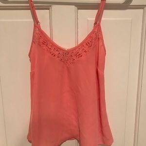 Peach lace trim camisole